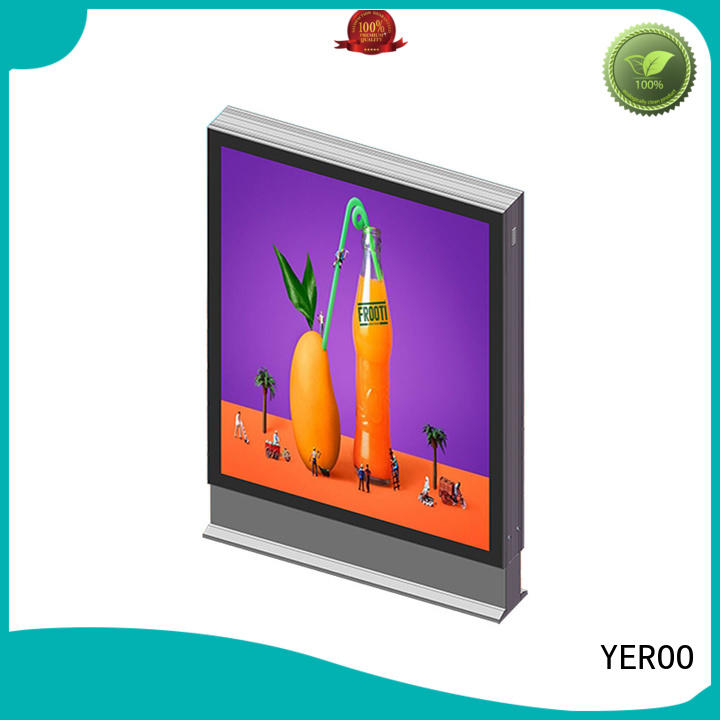 YEROO advertising led light box display double for street ads