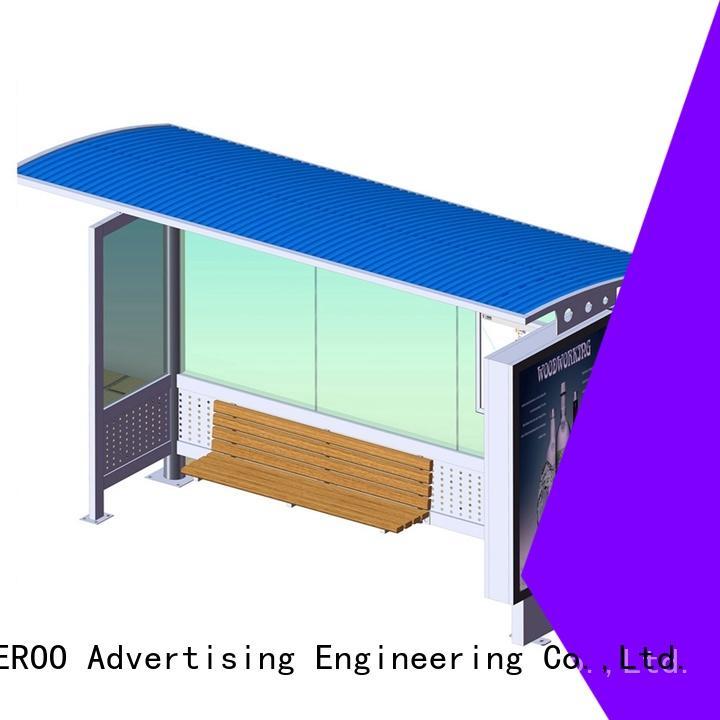 YEROO environmentally friendly bus stop advertising inquire now