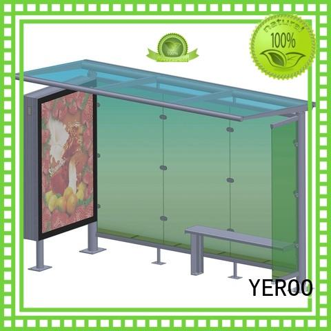 YEROO bus stop shelter advertising for outdoor advertising