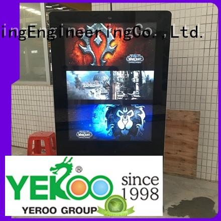 YEROO interactive digital kiosk popular for marketing