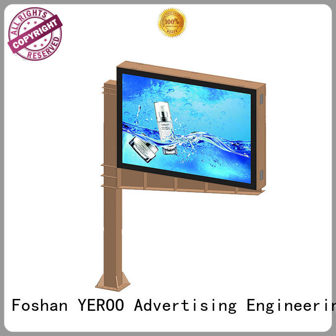 YEROO scrolling poster solar for city