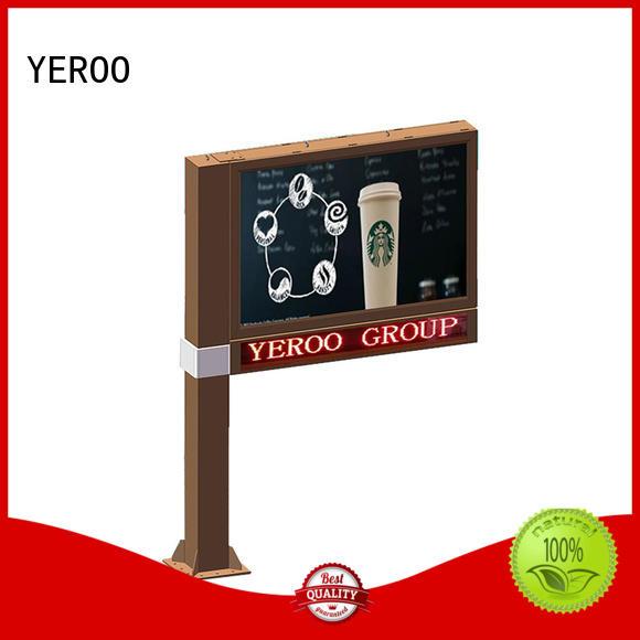 YEROO steel structure scroll billboard for city