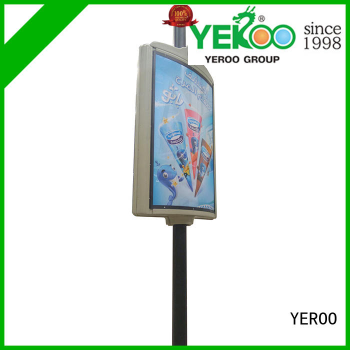sided pole led display vending for city YEROO