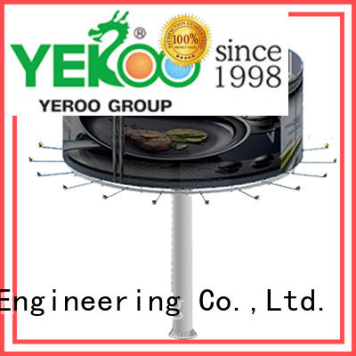 YEROO outdoor column billboard stand supplier for city ads