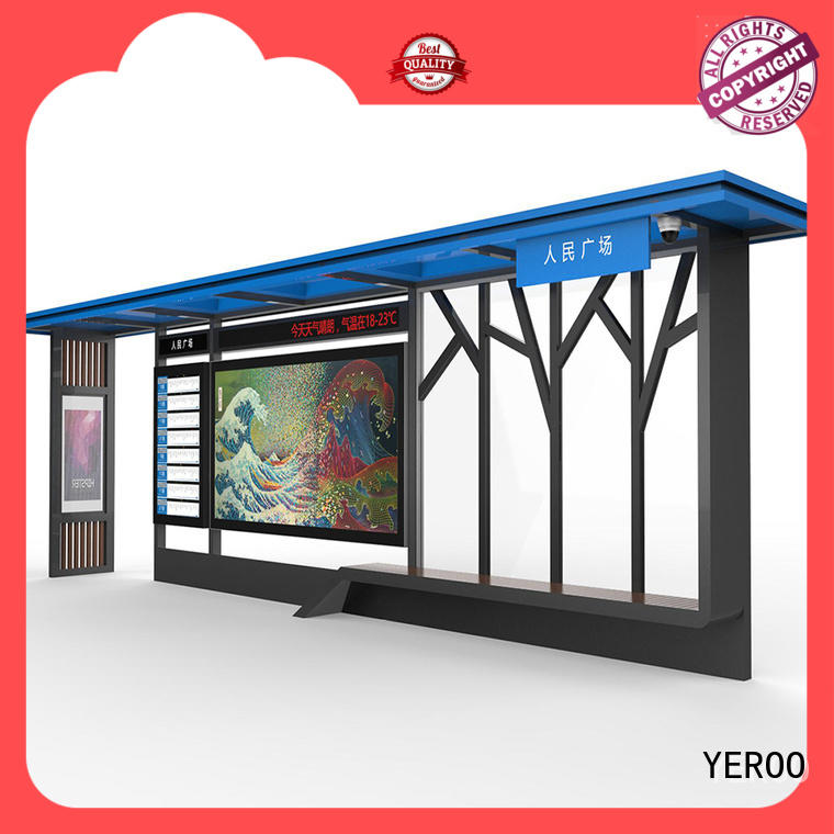 modern ads bus shelter ad metal