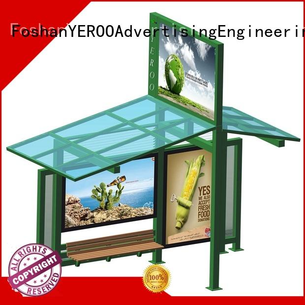 suburb advertising bus stop shelter design steel structure YEROO
