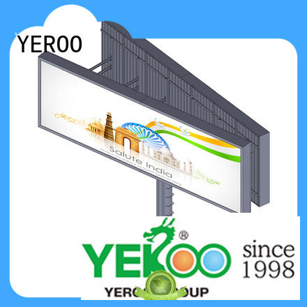 YEROO backlit billboard for marketing