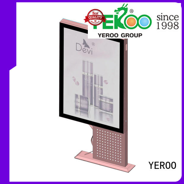 stainless steel light box display post for store YEROO
