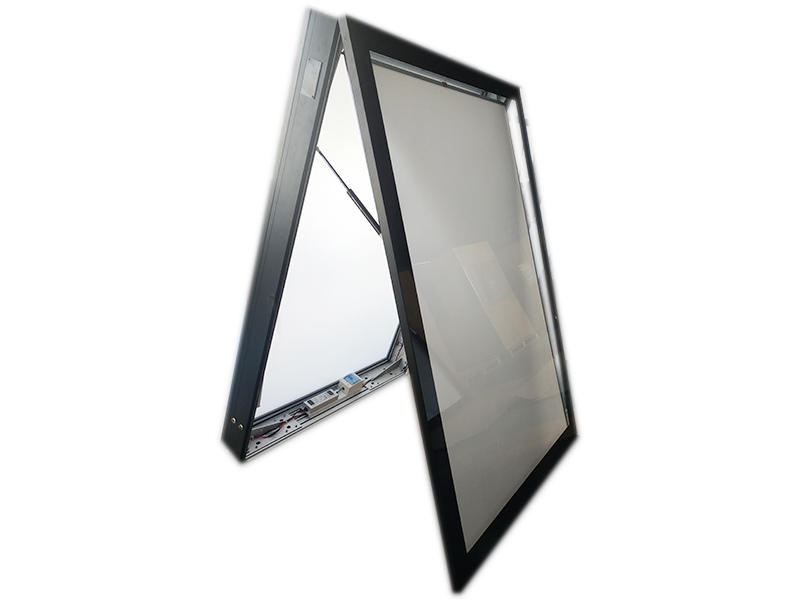 stainless steel led advertising light box post outdoor light