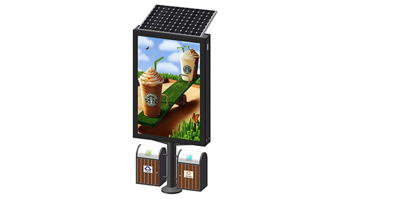 YEROO-Light Box Display, Double Sided Solar Power Light Box With Chair Yr-slb-0004