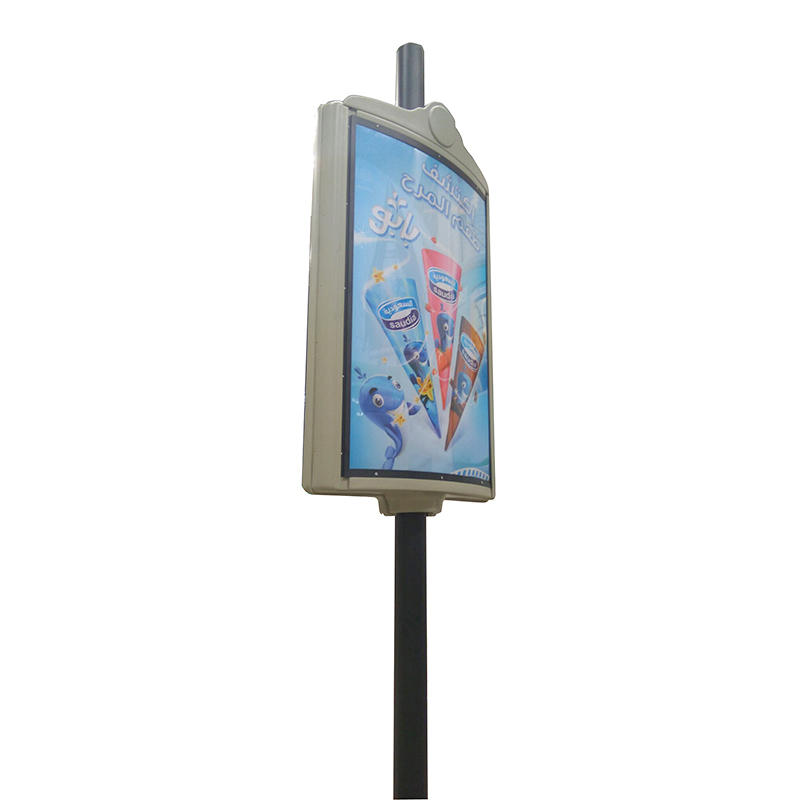 Outdoor light pole display