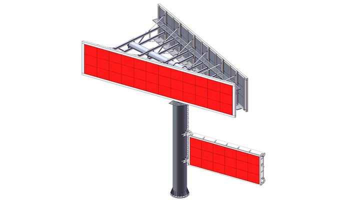 YEROO-Best Gantry Structure V Shaped Custom Steel Outdoor Billboard Structure-3