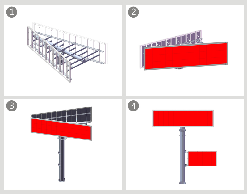 YEROO-Best Gantry Structure V Shaped Custom Steel Outdoor Billboard Structure-19