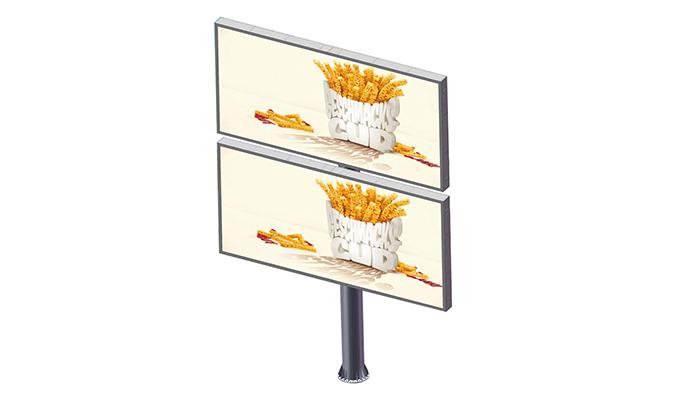 YEROO-Backlit Billboard Double Decker Advertising Steel Structure