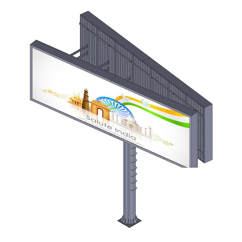 YEROO-BB-0004 Outdoor advertising aillboard manufacture V shaped backlit billboard