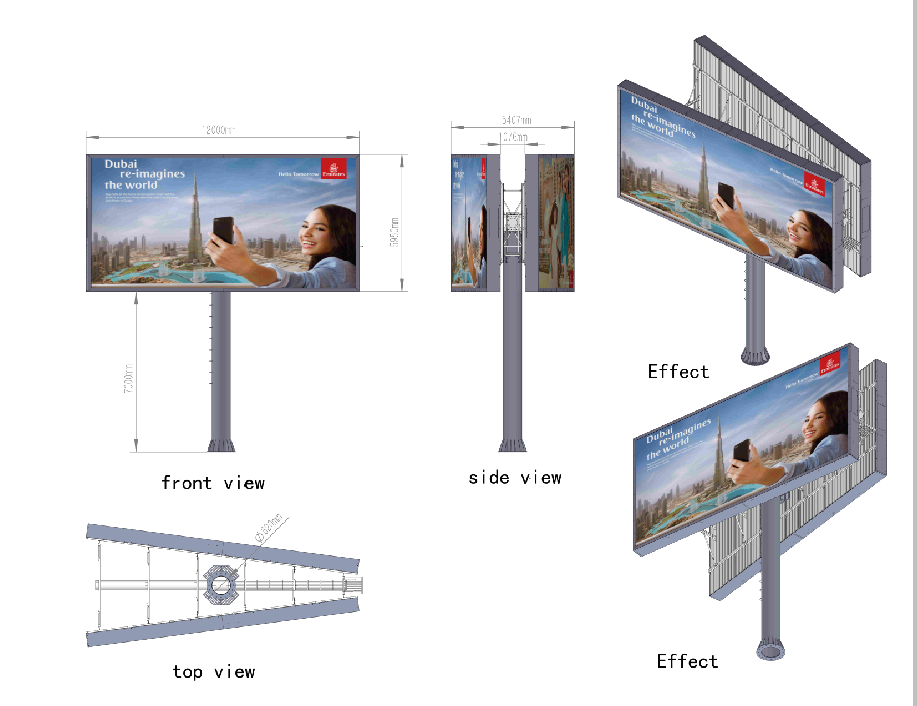 YEROO-Professional Backlit Billboard Mega Billboard Manufacture-2