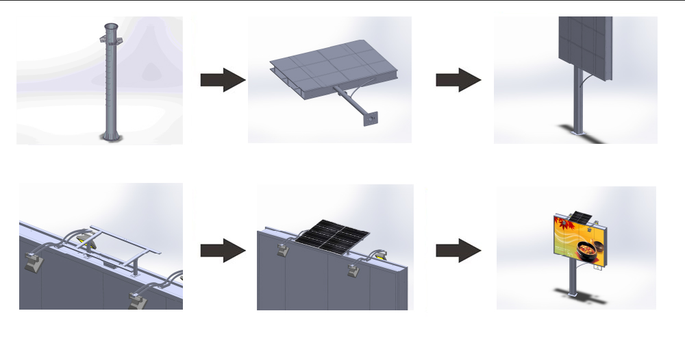 steel structure billboard outdoor supplier for highway-17