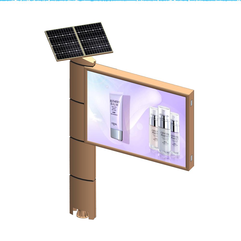 YEROO-Outdoor free standing solar power billboard structure
