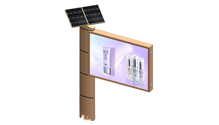 YEROO-Find Advertising Billboard Outdoor Free Standing Solar Power