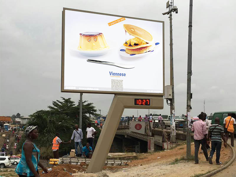 mega screen advertising billboard for highway