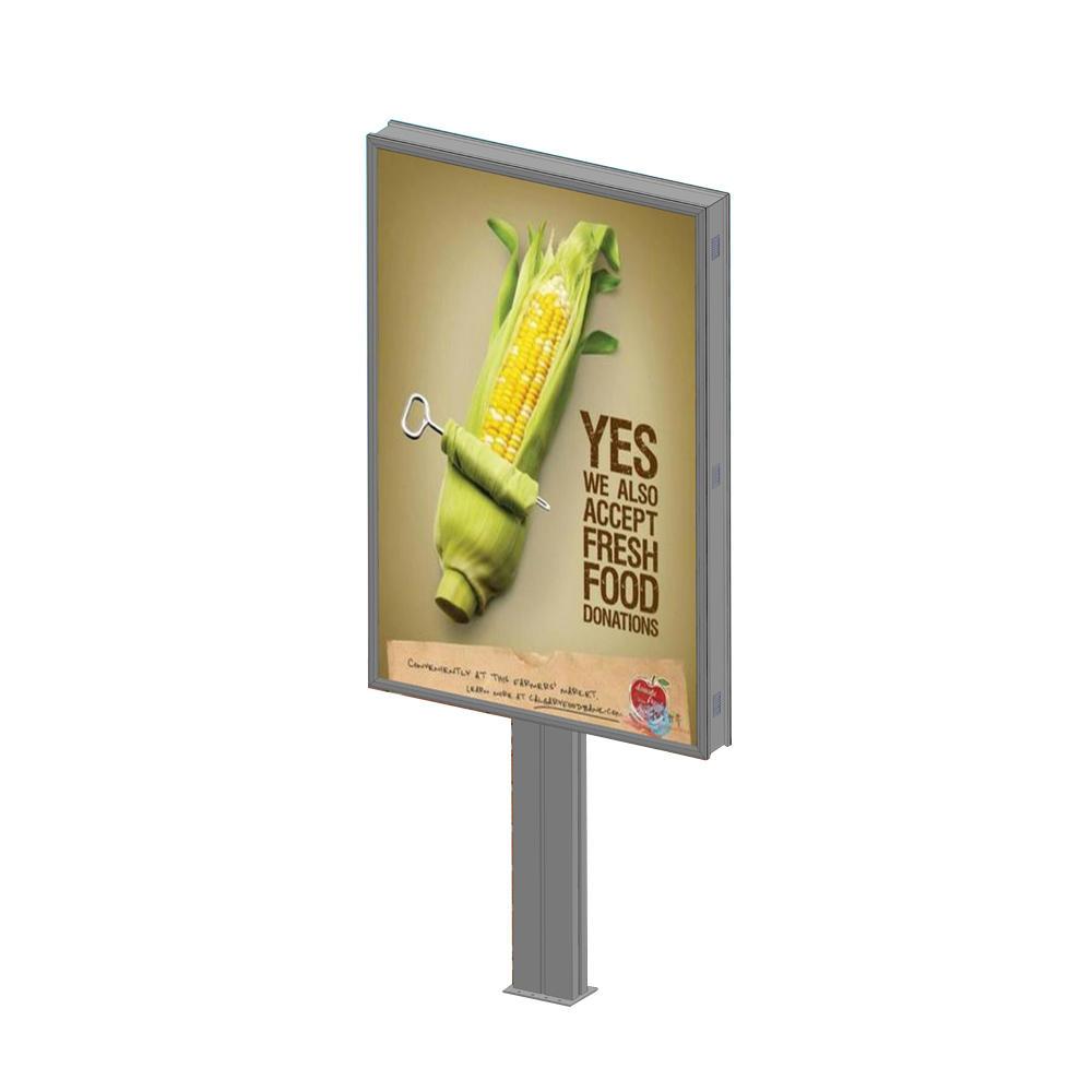 Outdoor portrait backlit double side billboard