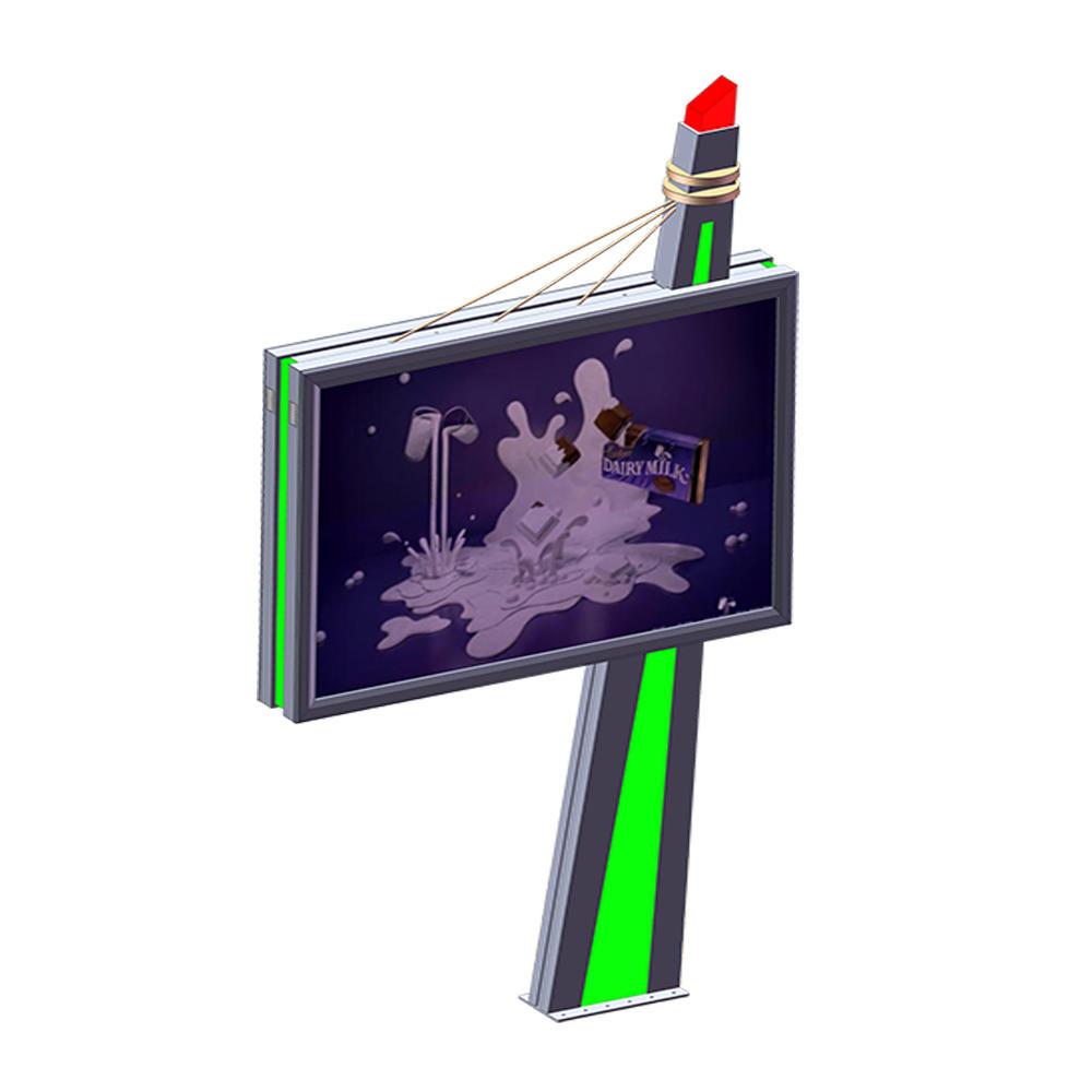 2019 outdoor advertising double sided mega backlit billboard