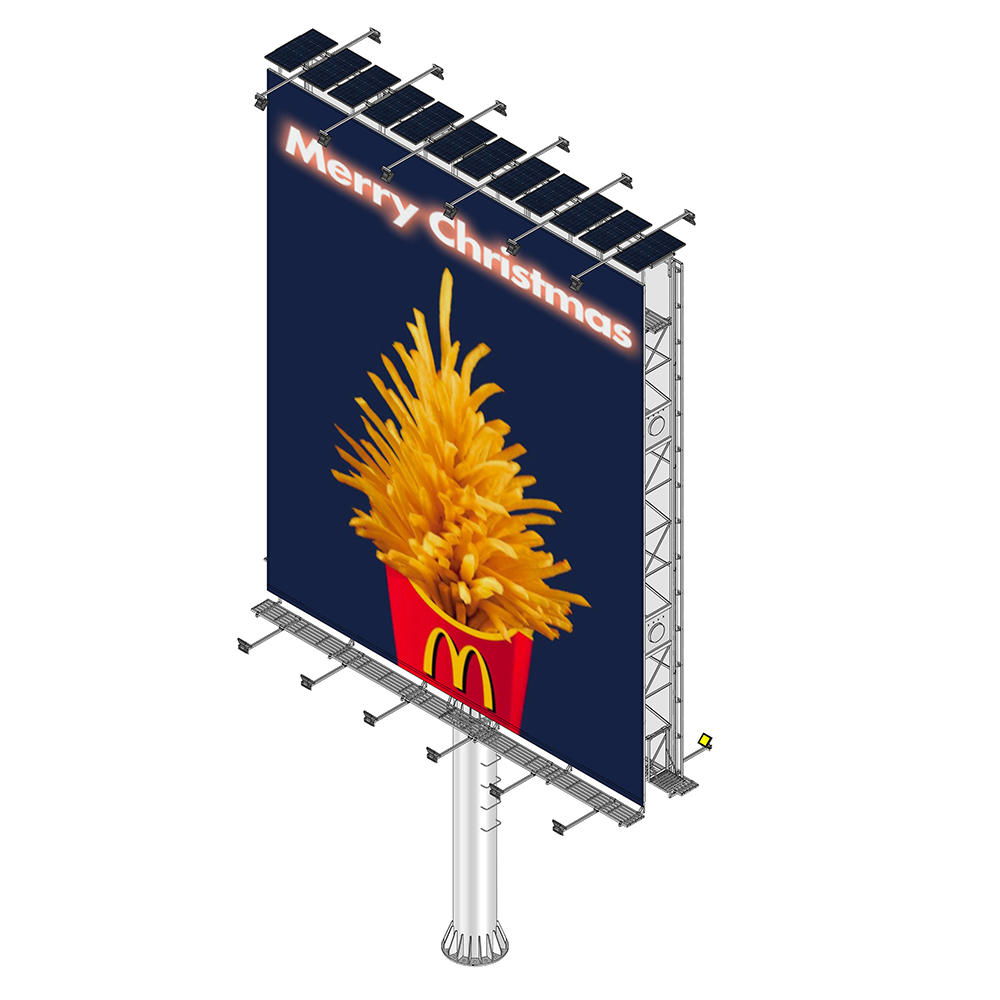 Hot sell outdoor doule side advertising solar powered billboard