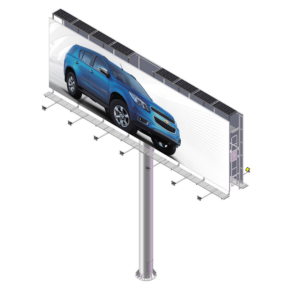 YEROO-B-008 Highway large size solar energy outdoor advertising billboard