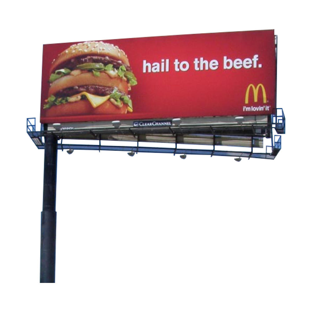 YEROO-B-009 steel structure outdoor billboard double side cantilever billboard