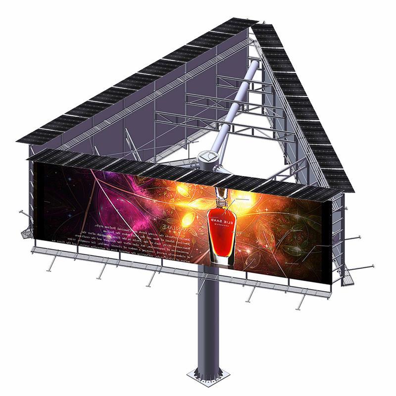 YEROO-B-010 steel structure outdoor three sided unipole billboard