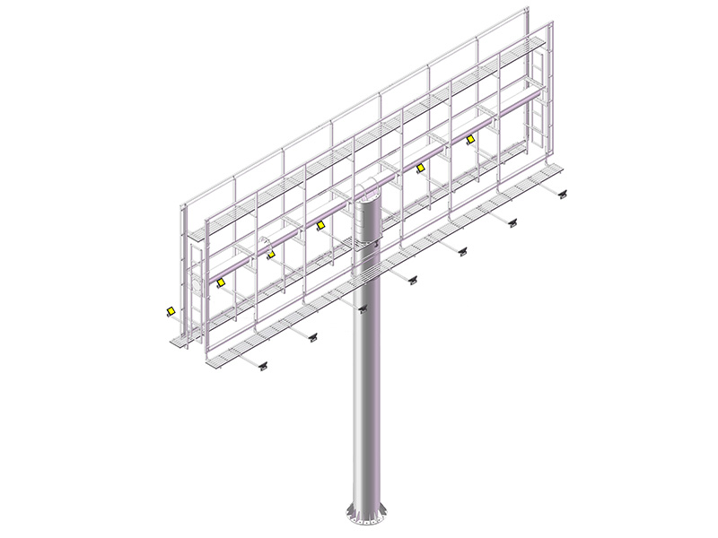 YEROO-Find Billboard Structure 2019 Steel Structure Outdoor Three Sided Unipole-3