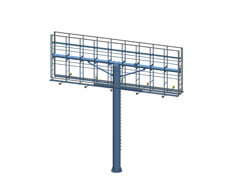 YEROO-Find Billboard Structure 2019 Steel Structure Outdoor Three Sided Unipole-4