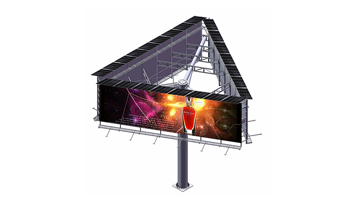 YEROO-Find Billboard Structure 2019 Steel Structure Outdoor Three Sided Unipole