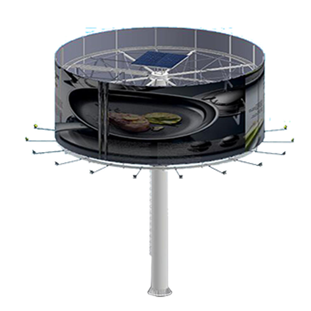 YEROO-B-012 steel structure outdoor billboard double side round shaped billboard