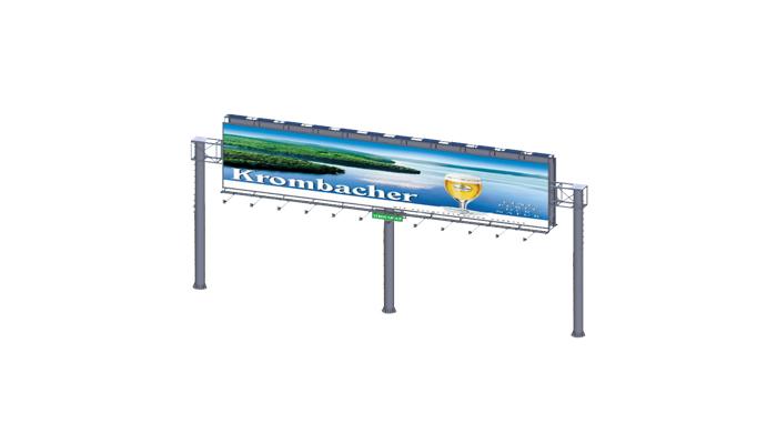 YEROO-Best Billboard Structure 2019 Steel Structure Outdoor Billboard Double