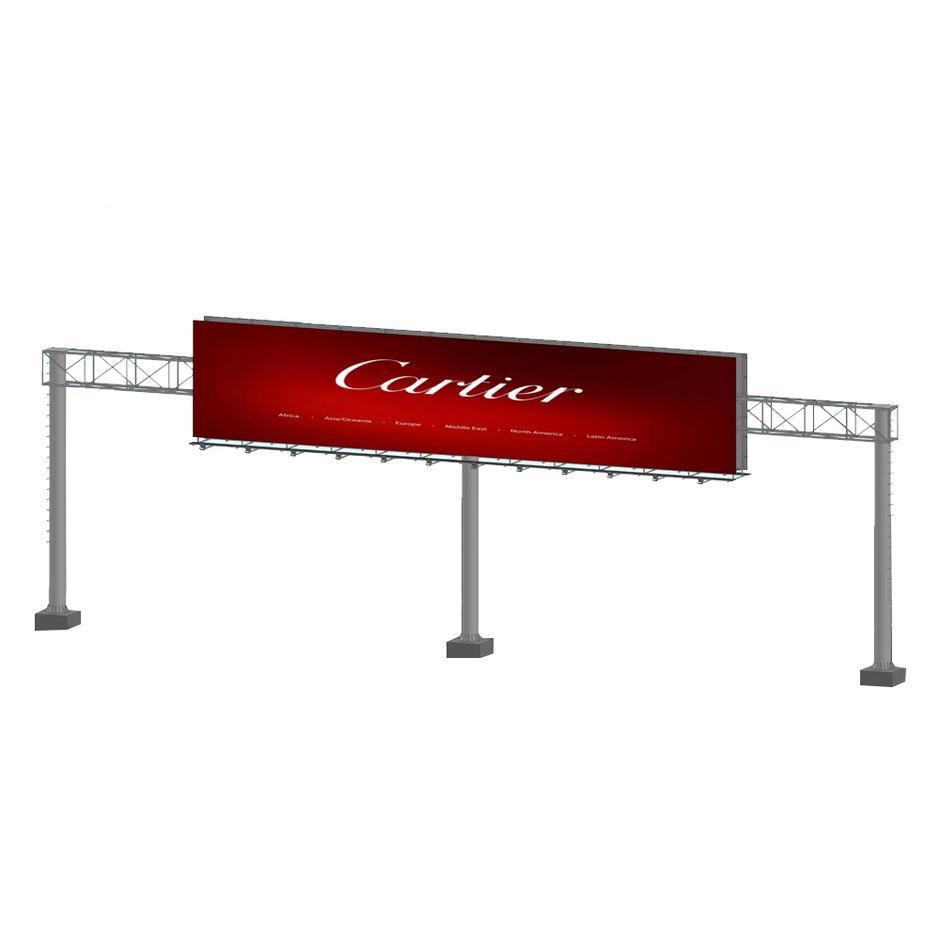 2019 large size steel structure double side gantry billboard