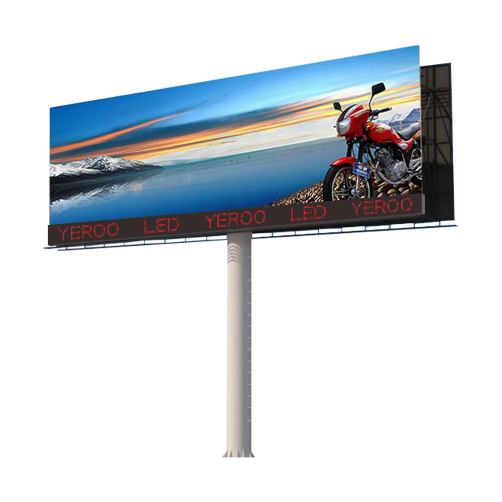 YEROO-LCB-002 Customized single sided outdoor advertising led screen billboard