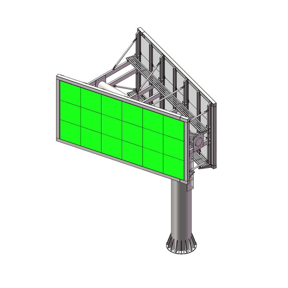 YEROO-LCB-005 Outdoor V shaped P8 P10 P16 led billboard structure