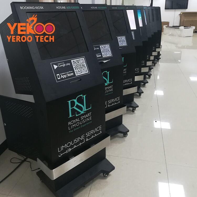 YEROO-AIT-0003 booking smart kiosk lcd screen with receipt printer