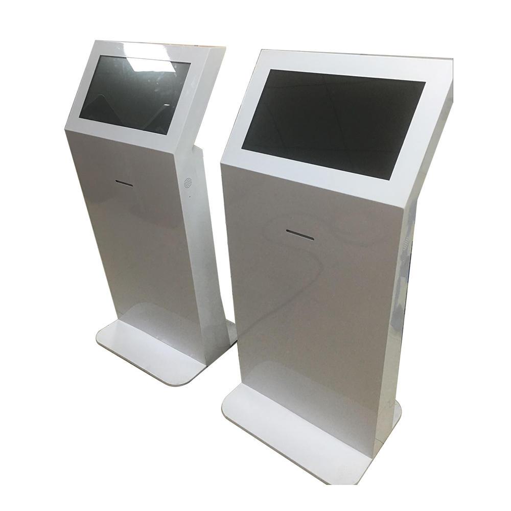 indoor lcd kiosk digital screen with receipt paper printer