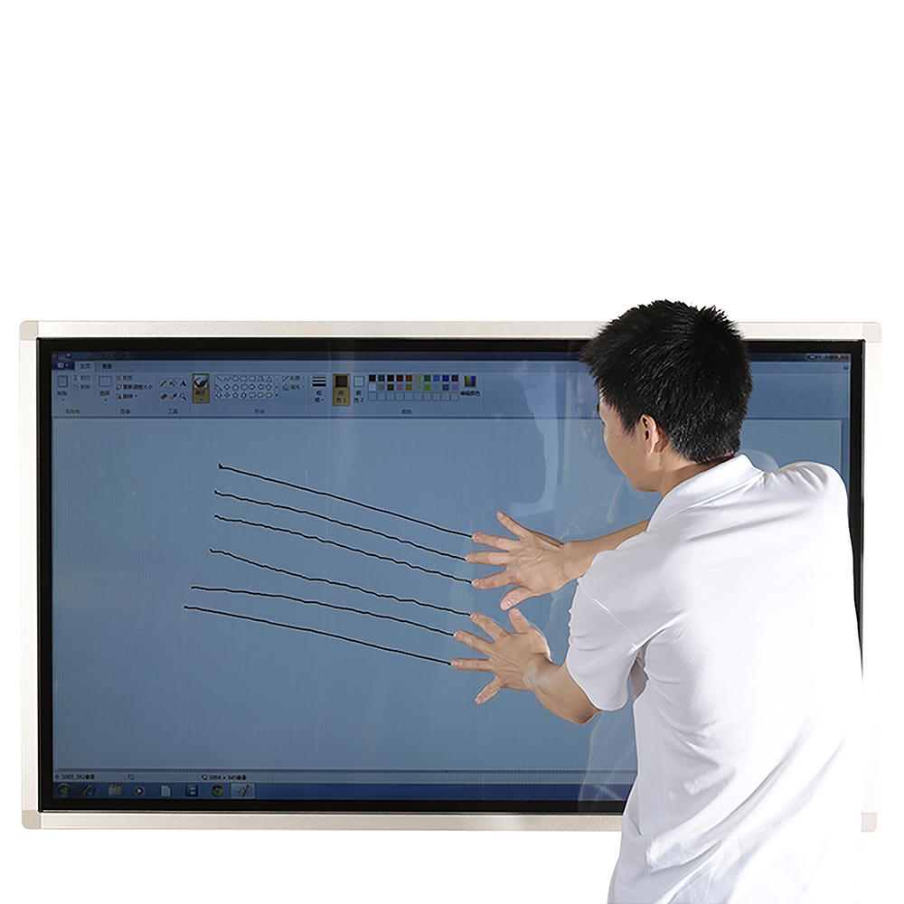 wall mounted touch interactive lcd display smart screen