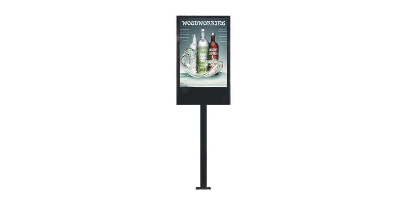YEROO wall mounted led screen display stand for shopping mall