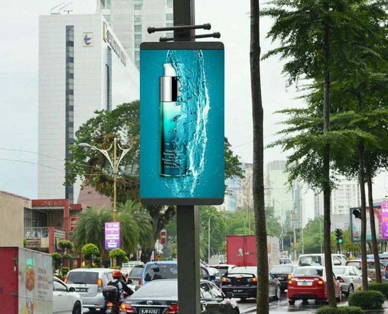 YEROO-Mupi Digital, Lamp Post Advertising Digital Led Screen Display-20