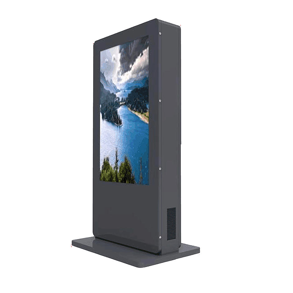 double side outdoor lcd totem kiosk display