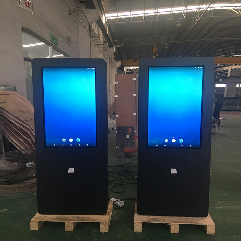 parking lot outdoor lcd touch kiosk with receipt printer
