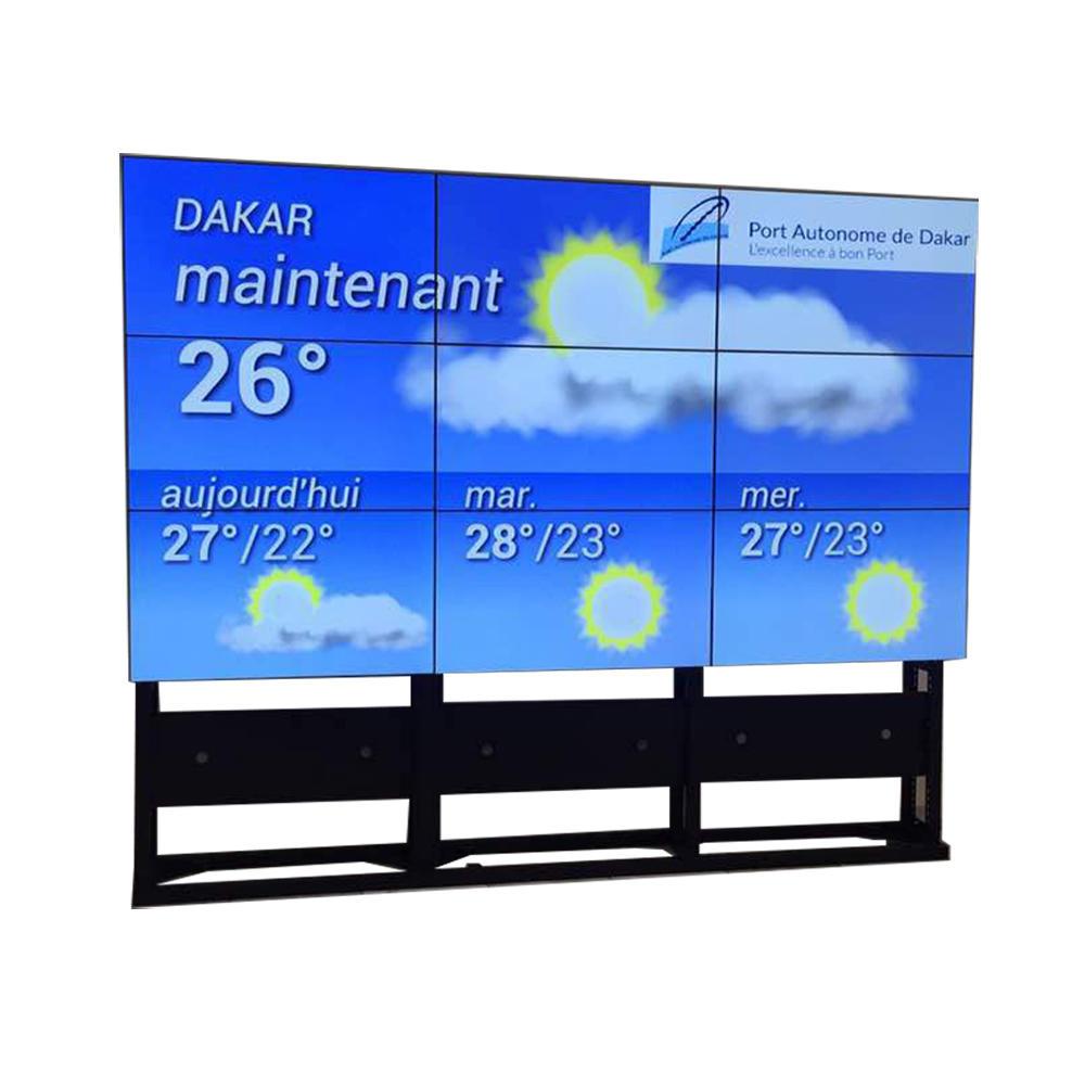 1920x1080 Full HD 49''55'' 3x3 Samsung LG LCD video wall with narrow bezel display