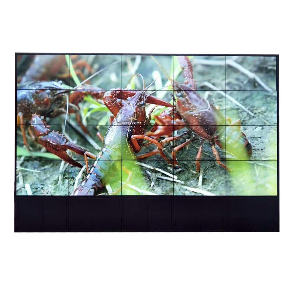 floor stand support lcd video wall advertising display