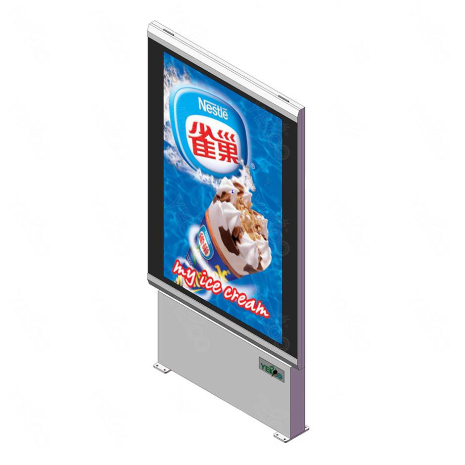 City advertising outdoor single sided light boxYR-LB-0004