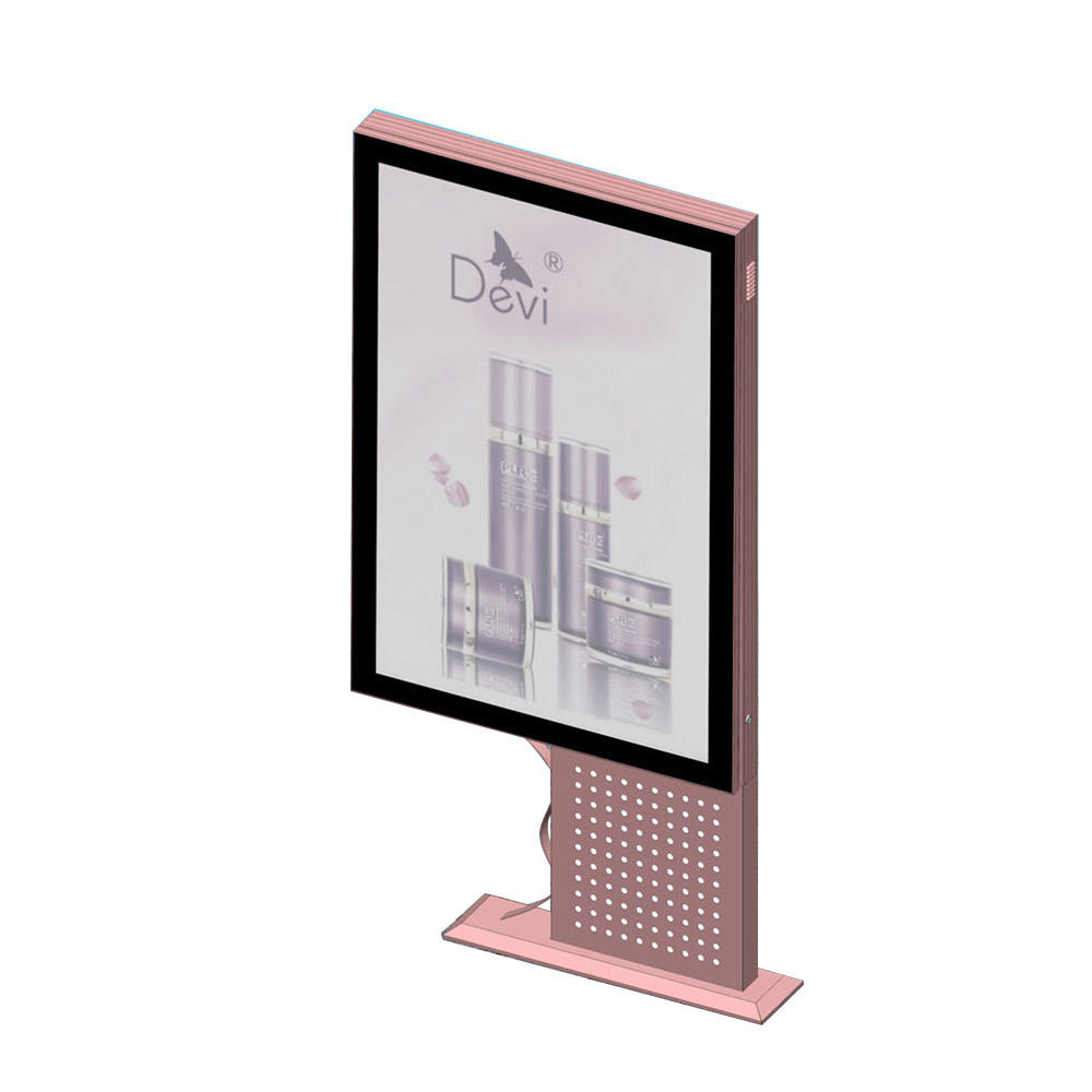 YR-LB-0008 Customized design stainless steel outdoor light box mupi