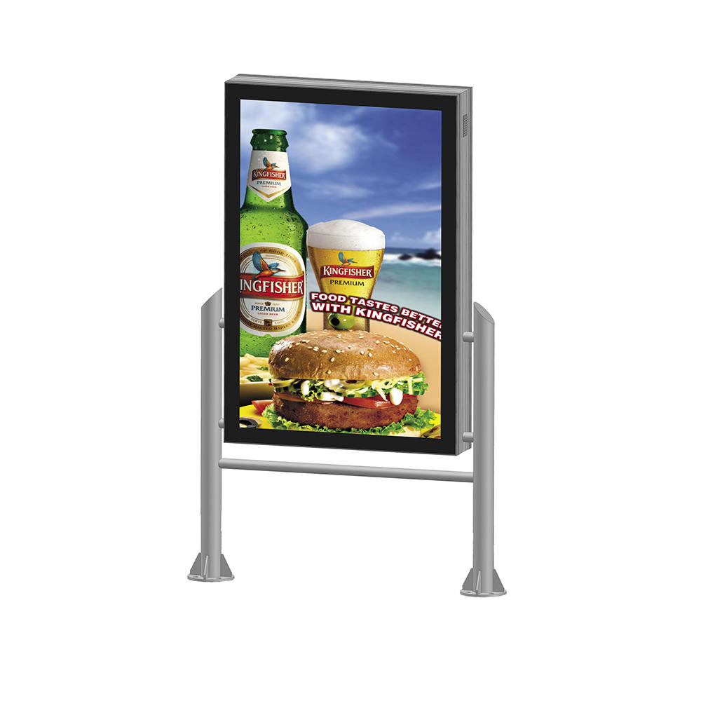 YR-LB-0009 Double sided street light advertising light box sign